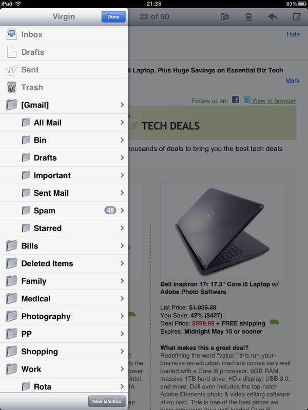 New Mail Folder For Virgin Mail Apple Ipad Forum
