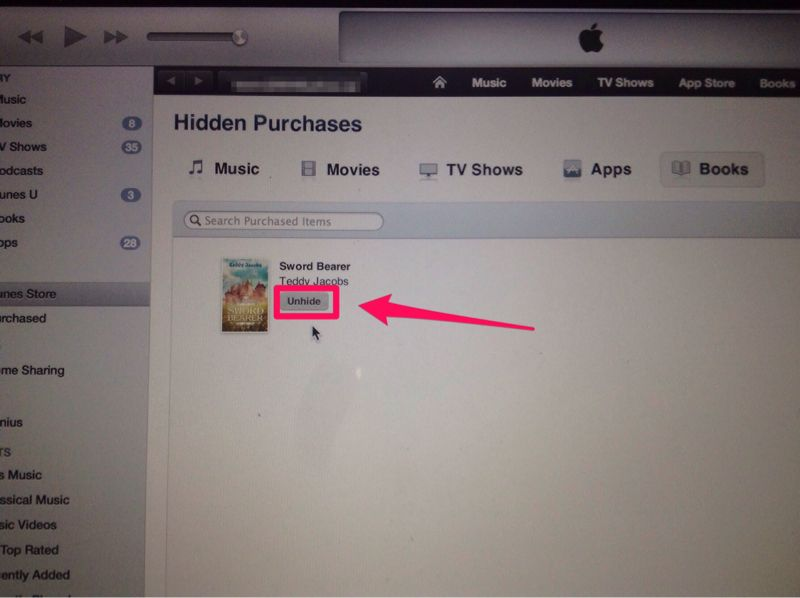 Why cant i totally delete free purchased books in ibooks