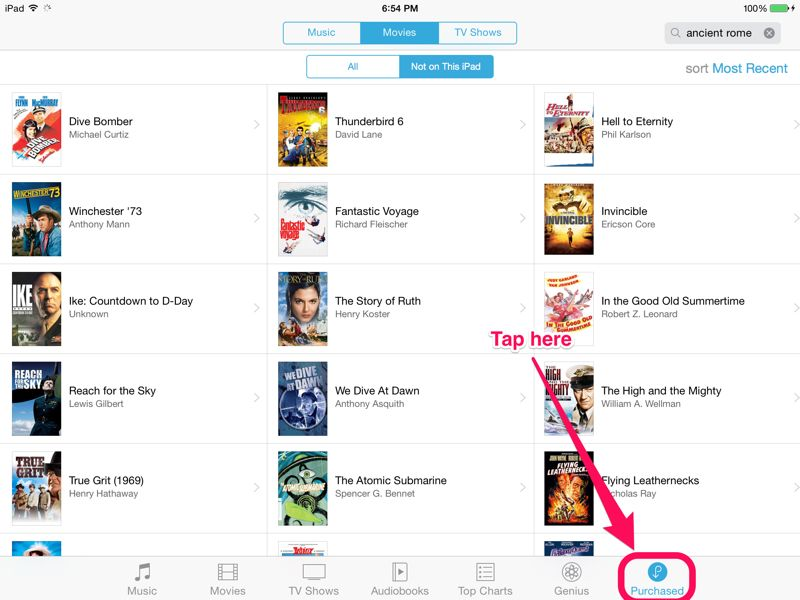 how to delete movies from itunes on ipad