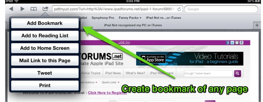 How to create a bookmarklet in safari