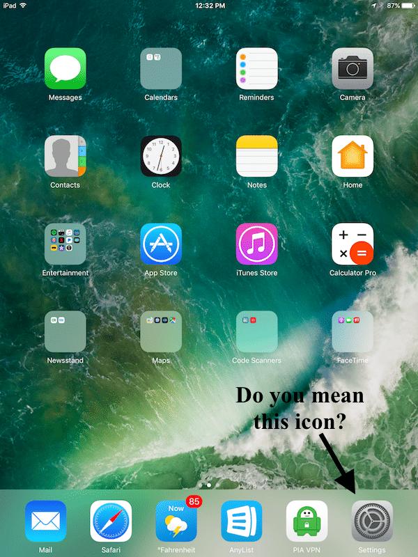 Settings Icon missing   Apple iPad Forum
