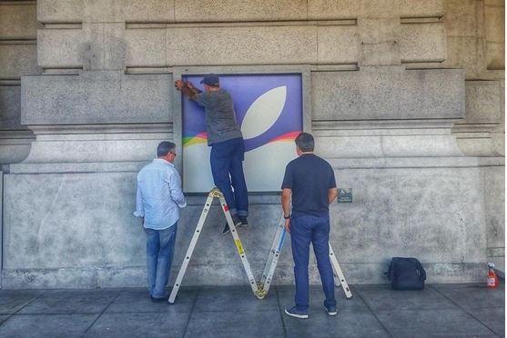 iPhone 6s event preparations.JPG