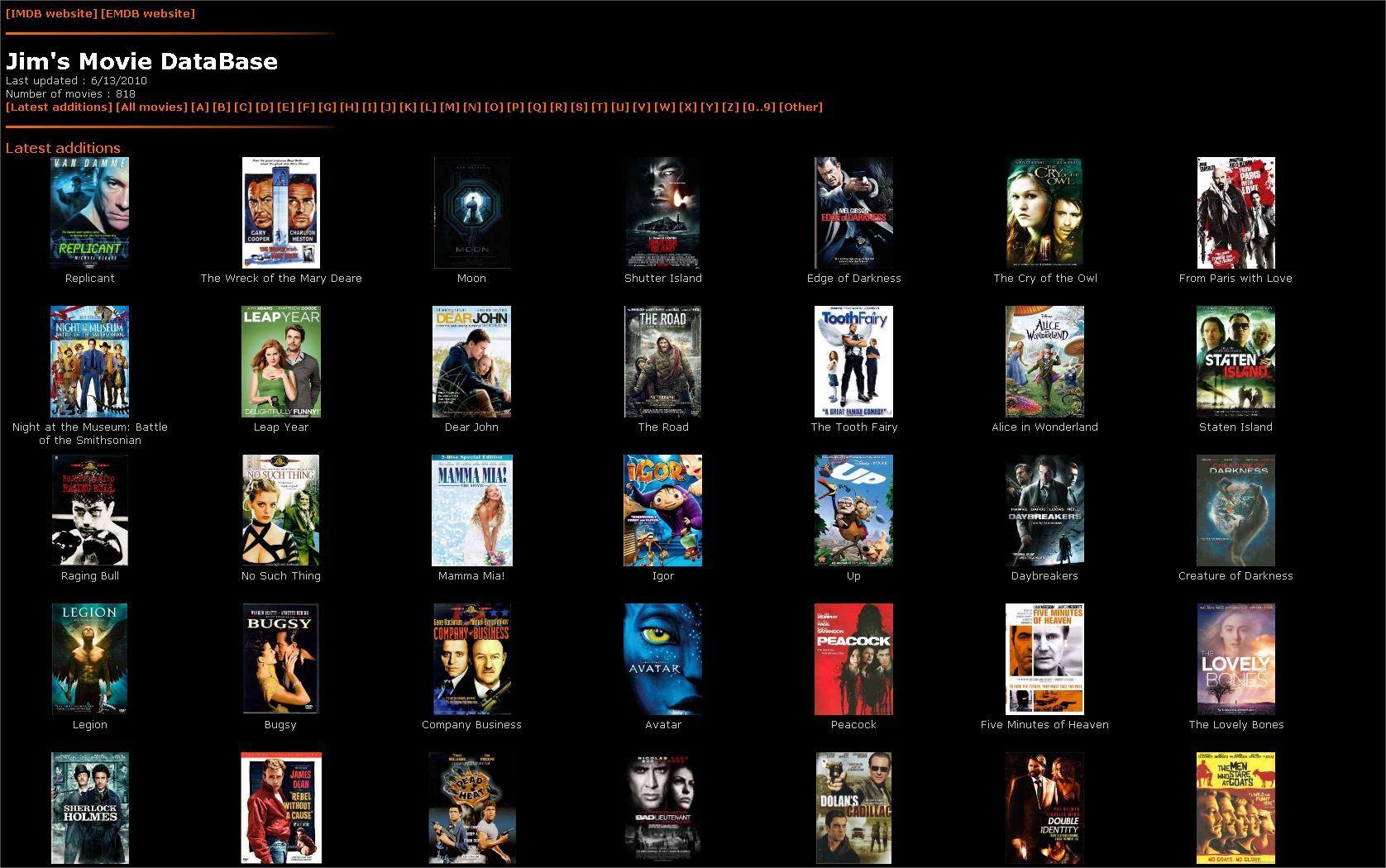 movie database excel