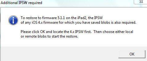 iPad 2 Wifi Downgrade to ios 5 1 1  jailbreak   Apple iPad Forum