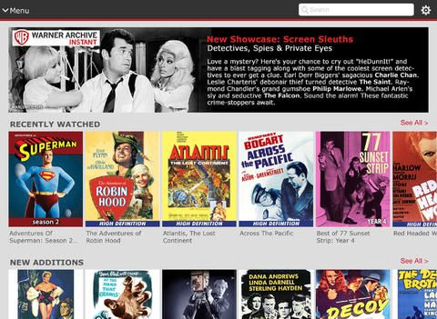 Warner Archive Instant app by Warner Bros will stream 500 classic